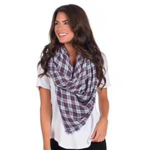 New Southern Shirt plaid blanket scarf